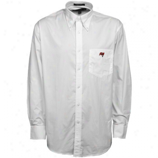 Tampa Bay Buccaneers Clothing: Colony Sportswear Tampa Bay Buccaneers White Chalk Dress Shirt