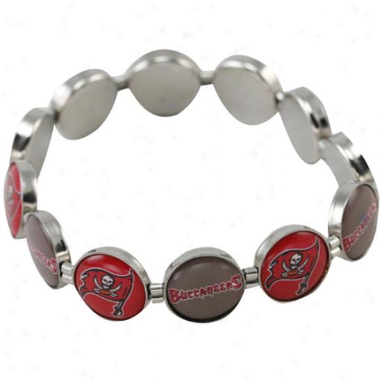 Tampa Bay Buxxaneers Enamel Charm Beaded Bracelet