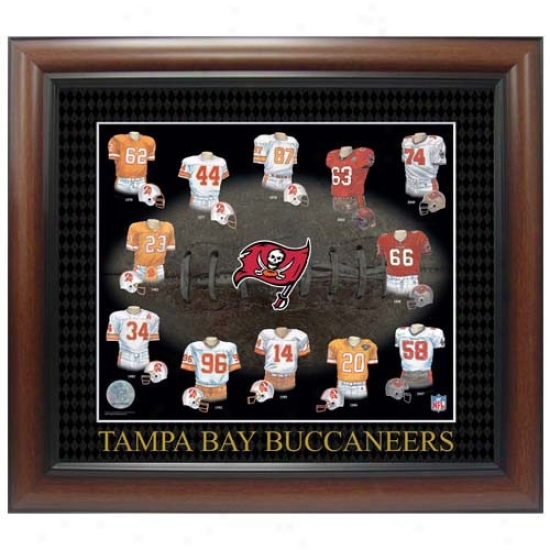 Tampa Bay Buccaneers Evolution Of The Team Uniform Framed Picture