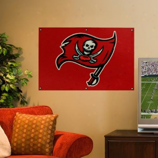 Tampa Bay Buccaneers Flags : Tampa Bay Buccaneers 2' X 3' Red Applique Logo Fan Flags