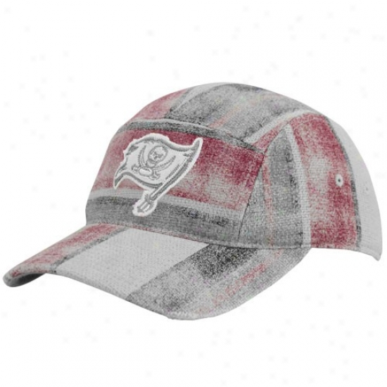 Tampa Bight Buccaneers Gear: Reebok Tampa Bay Buccaneers Multi-color Distressed Patchwork Adjustable Fashion Slouch Hat