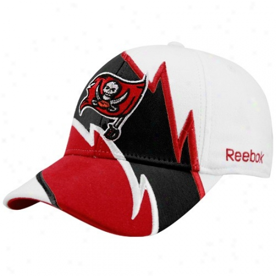 Tampa Bay Buccaneers Gear: Reebok Tampa Bay Buccaneers White Electric Flex Fit Hat