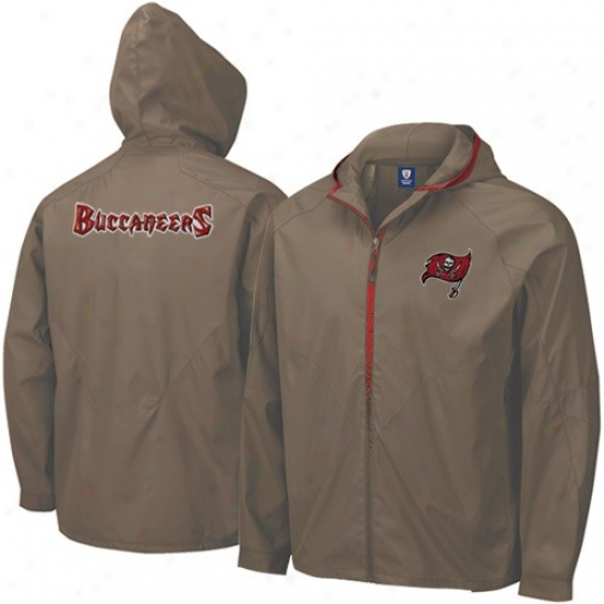 Tampa Bay Buccaneers Jacket : Reebok Tampa Bay Buccaneers Youth Pewter Flatline Full Zip Hoody Jacket
