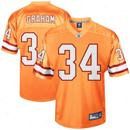 Tampa Bay Buccaneers Jerseh : Reebok Earnest Graham Tampa Bay Buccaneers Youth Throwback Replica Jersey - Orange Glaze