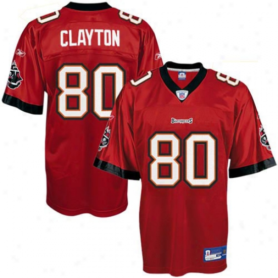 Tampa Bay Buccaneers Jersey : Reebok Nfl Equipment Tampa Bay Buccaneers #80 Michael Clayton Red Replica Football Jersey