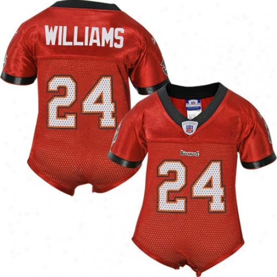 Tampa Bay Buccaneers Jerseys : Reebok Nfl Equipment Tampa Bay Buccaneers #24 Carnell Williams Red Babe One-piece Replica Football Jerseys