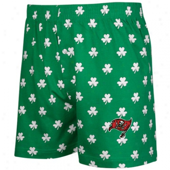 Tampa Bay Buccaneers Kelly Green St. Patrick's Day Shamrock Boxer Shorts