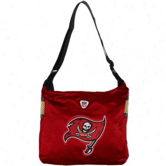 Tampa Bay Buccaneers Ladies Red Mvp Jersey Tote Bag