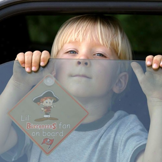 Tampa Bay Buccaneers Lil' Fan On Board Car Sign