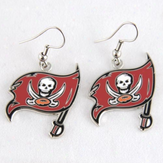 Tampa Bay Buccaneers Logo Wi5e Earrings