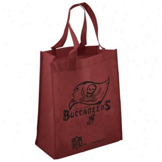 Tampa Bay Buccaneers Maroon Reusable Tote Bag