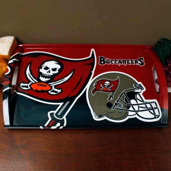 Tampa Bay Buccaneers Melamine Serving Tray