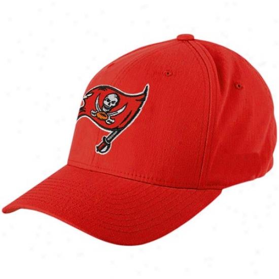 Tampa Bay Buccaneers Merchandise: Reebok Tampa Bay Buccaneers Red Cotton Blend Flex Fit Hat