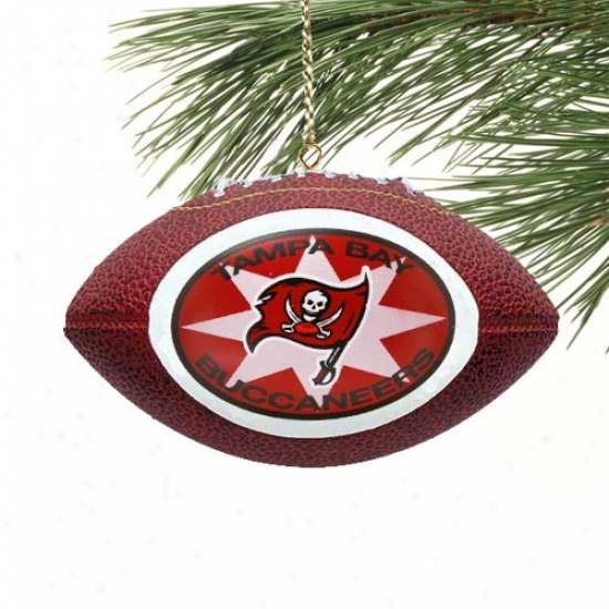 Tampa Bay Buccaneers Mini Football Ornament