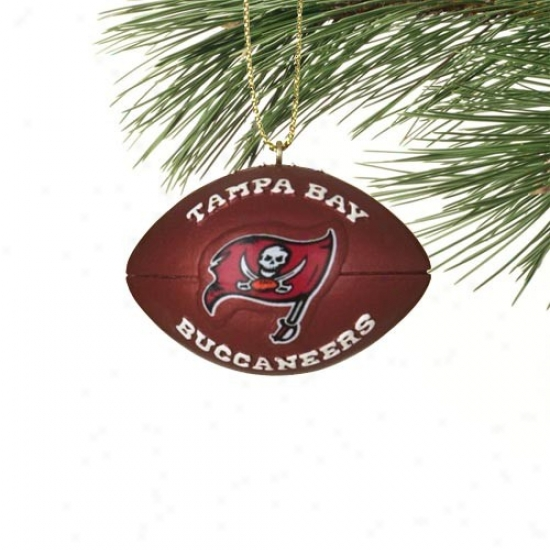 Tampa Bay Buccaneers Mini Resin Football Ornament