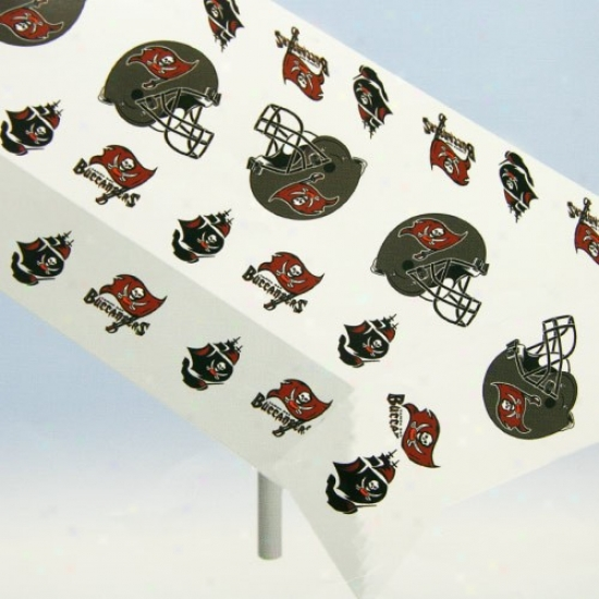 Tampa Bay Buccaneers Nfl Team Logo Plastic Tablecloth
