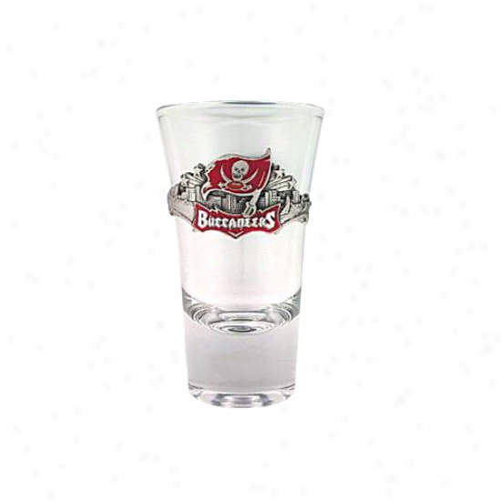 Tampa Bay Buccaneers Pewter Team Logo Flared Shooter Glass