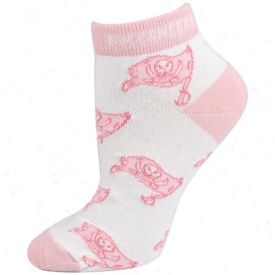 Tampa Bay Buccaneers Pink Ladies 9-11 Ankle Socks