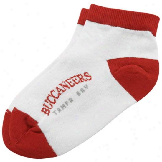 Tampa Bay Buccaneers Preschool White Ankle Socks