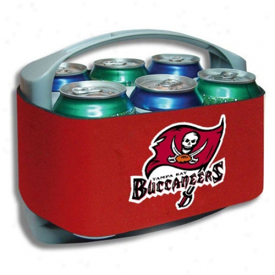 Tampa Bay Buccaneesr Red Cool Six Cooler
