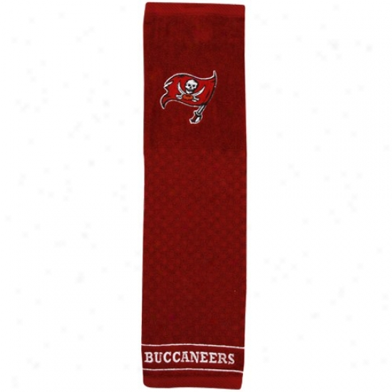 Tampa Bay Buccaneers Red Embroidered Team Logo Tri-fold Towel