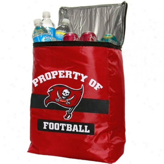 Tampa Bay Buccaneers Red Insulated Cooler Backpack