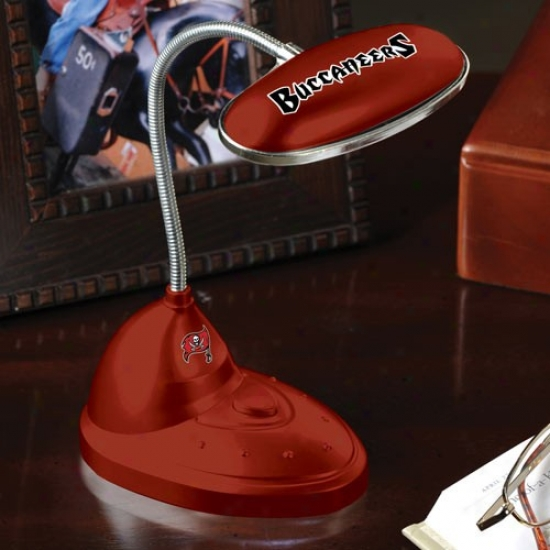 Tampa Bay Buccaneers Red Led Desk Lamp