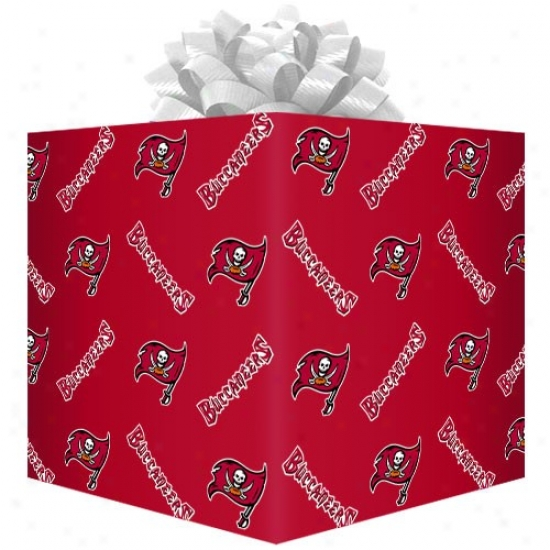 Tampa Bay Buccaneers Red Logo Gift Wrap Paper