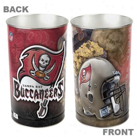 Tampa Bay Buccaneers Red Tapered Wastdbasket