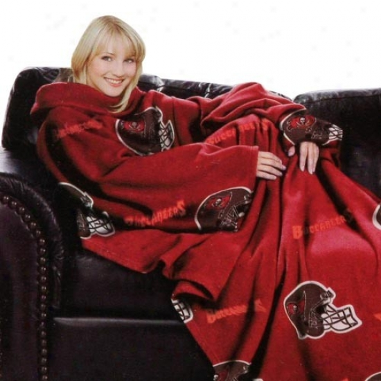 Tampa Bay Buccaneers Red Team Helmet Print Unisex Comfy Throw
