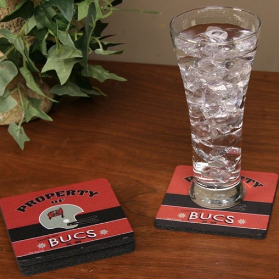 Tampa Bay Buccaneers Retro Coaster Set