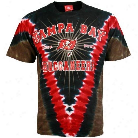 Tampa Bay Buccaneers Shirts : Tampa Bay Buccaneers Black Tye Dye Logo Shirts