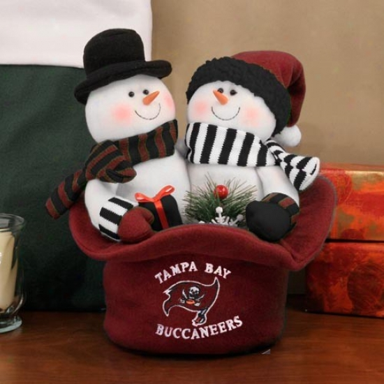 Tampa Bay Buccaneers Snowmen Top Hat