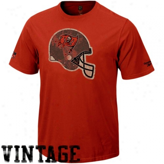 Tampa Bay Buccaneers T-shirt : Reebok Tampa Bay Buccaneers Red Retro Helmet Vintage Premium T-shirt