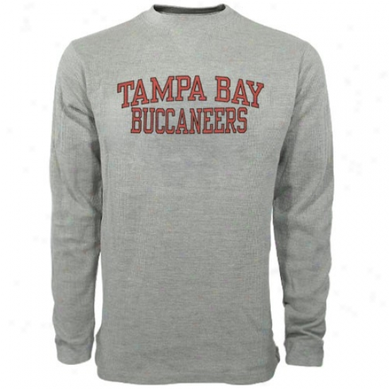 Tampa Bay Buccaneers T Shirt : Reebok Tampa Bay Buccaneers Ash Youth Thermal Long Sleeve Top