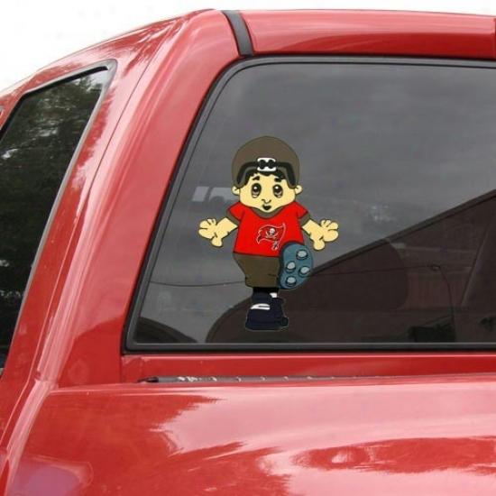 Tampa Recess  Buccaneers Tea Mascot 12'' Window Cling