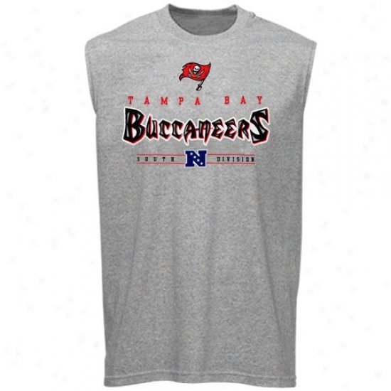 Tampa Bay Buccaneers Tees : Tampa Bay Buccaneers Ash Critical Victoy Sleeveless Tees