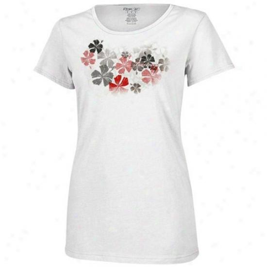 Tampa Bay Buccaneers Tshirt : Reebok Tampa Bay Buccaneers Ladies White Luau Tshirt