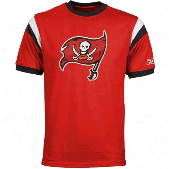 Tampa Bay Buccaneers Tshirts : Reebok Tampa Bay Buccaneers Red Youth Racer Ringer Tshirts