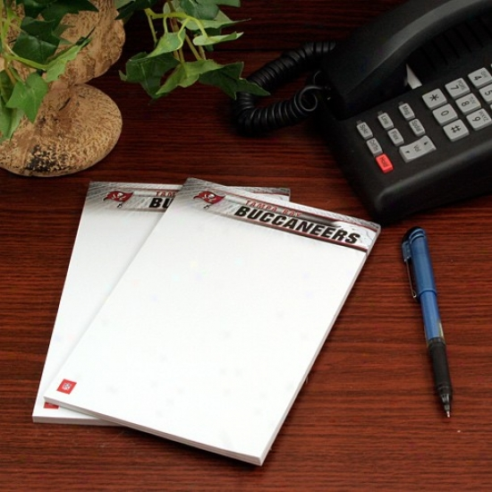 Tampa Bay Buccaneers Two-;ack 5'' X 8'' Team Logo Notepads
