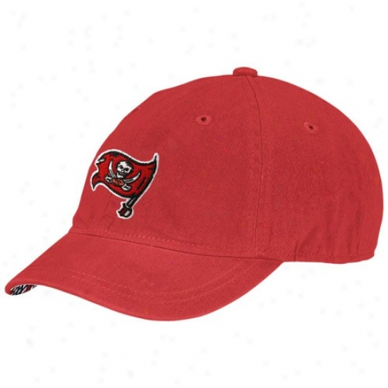 Tampa Bay Bucs Gear: Reebok Tampa Bay Bucs Ladies Red Charlie Love Adjustable Hat