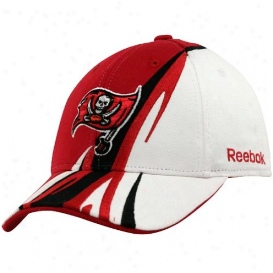 Tampa Bay Bucs Hats : Reebok Tampa Bay Bucs White-red Cut & Sew Adjustable Hats