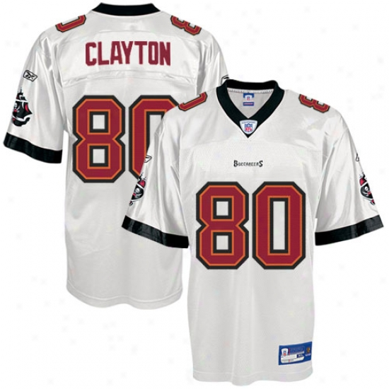 Tampa Bay Bucs eJrseys : Reebok Nfl Equipment Tampa Bay Bucs #80 Michael Clayton White Youth Replica Football Jerseys