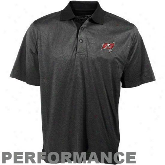 Tampa Bay Bucs Polo : Cutter & Buck Tampa Bay Bucs Black Birdseye Pplo