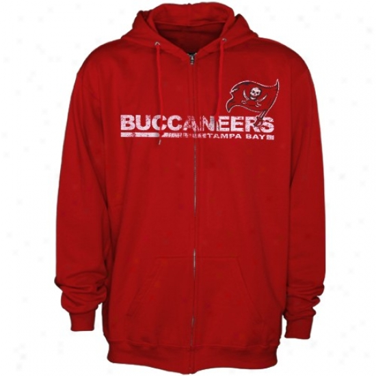 Tampa Bay Bucs Stuff: Tampa Bay Bucs Red Critical Victory Iii Full Zip Hoody Sweatshirt