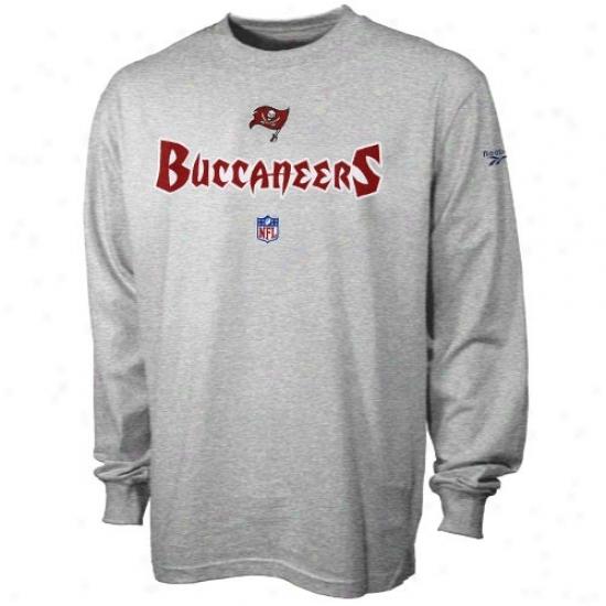 Tampa Bay Bucs Tshirt : Reebok Tampa Bay Bucs Ash Tewm Marks Lengthy Sleeve Tshirt