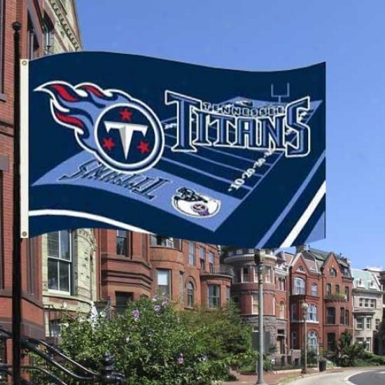 Tennessee Titan Flgas : Tennessee Titan 3' X 5' Field Flags