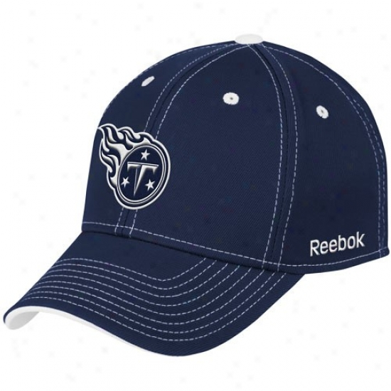 Tennessee Titan G3ar: Reebok Tennessee Titan Navy Blue Structured Flex Hat
