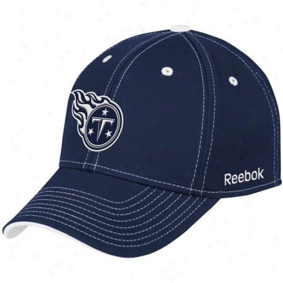 Tennessee Titan G3ar: Reebok Tennessee Titan Navy Blue Structured Flex Hat