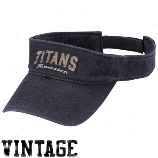 Tennessee Titan Gear: Reebok Tennessee Titan Navy Blue Gws Visor